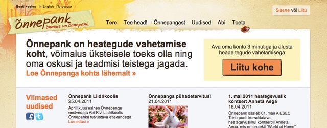 """Õnnepangas pakuvad inimesed üksteisele abi. <a href=""""http://www.help.ee/onnepank/"""">Continue reading <span class=""""meta-nav"""">→</span></a>"""