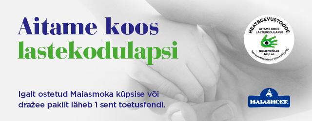 """Maiasmokk koostöös Naerata Ometi MTÜ poolt hallatava Help.ee-ga aitab parandada 5 Eesti lastekodu laste elamistingimusi. <a href=""""http://www.help.ee/aitame-koos-lastekodulapsi/"""">Continue reading <span class=""""meta-nav"""">→</span></a>"""